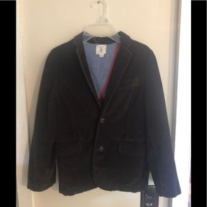 Boys Lands End brown corduroy Blazer